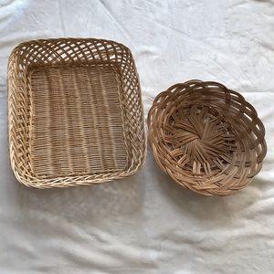 Bundle of 2 Woven Baskets
